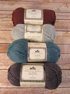 Downton Abbey Yarn Collection Review: The Downton Abbey Collection is a fabulous yarn line that has fun names that play off the TV show. Each character has his or her own skein of yarn named after them.