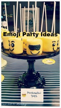 Share Your Emotions With These Emoji Party Ideas PartyIdeas Decorations 9th Birthday