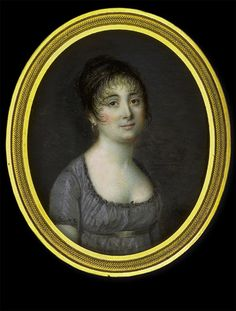 Pierre Rouvier    Lady in Grey Dress    circa 1800