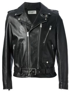 SAINT LAURENT - classic biker jacket 6
