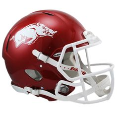 2013 NEW RELEASE Arkansas Razorbacks Matte Crimson Black Shading Authentic Revolution Speed Full Size Helmet ORDER NOW $264.79