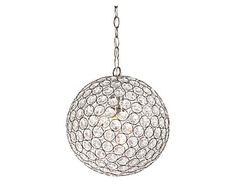 Hanglamp Elize, transparant/zilver, Ø 40 cm