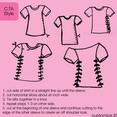 cut-up t-shirt