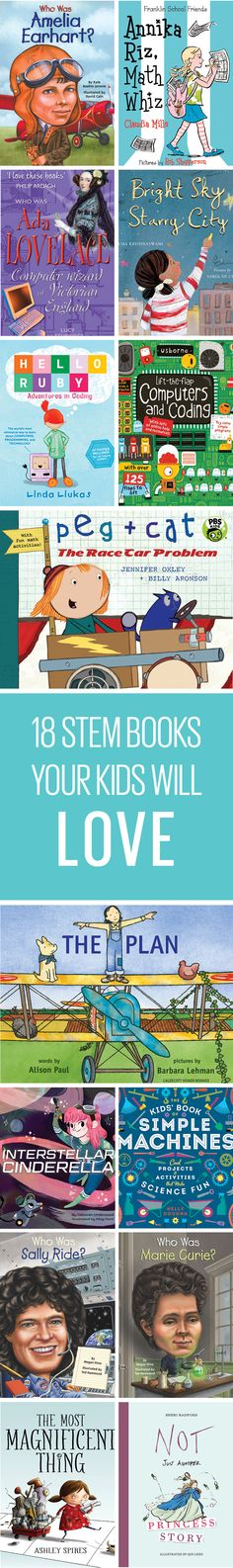 STEM stands for science, technology, engineering and math, get your little one started on the right path with these #STEM books.