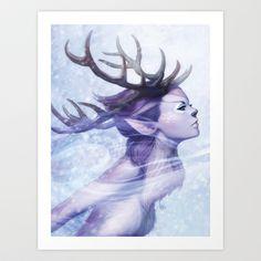 Deer Princess Art Print by Artgerm™ - $18.72