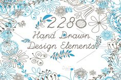 Vector Hand Drawn Elements Vol.1 by Arys Design on @creativemarket