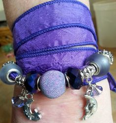 Lovely Silk Wrap Bracelet Purple Passions by WolfMountainJewelry, $25.00