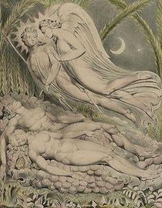 Adam et Eve endormis, par William Blake