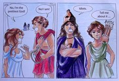 Aphrodite and Apollo get in an argument while Athena and Artemis watch on while thinking about the idiocy of their family<< Gods yes xDD Greek Gods And Goddesses, Greek Mythology, Apollo And Artemis, Oncle Rick, Rick Riordan Books, Percy Jackson Fandom, Heroes Of Olympus, Fantasy, Harry Potter