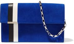 Tomasini - Miura Suede And Leather Shoulder Bag - Cobalt blue