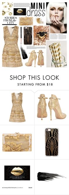 """""""Shine"""" by kumi-chan ❤ liked on Polyvore featuring Alice + Olivia, Gianvito Rossi, Charlotte Olympia, Anja, Casetify, Urban Decay and Morphe"""