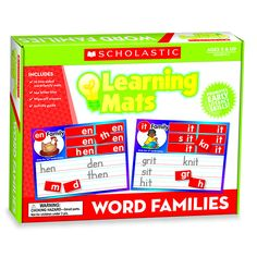 LEARNING MATS WORD FAMILIES