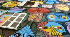 Jim Avignon war gerade in Italien, wo er sein neuestes Wandbild gemalt hat. Das Mural, das sich über die gesamte Fassade des vierstöckigen Stadthauses erstreckt, befindet sich in der Stadt Ravenna.