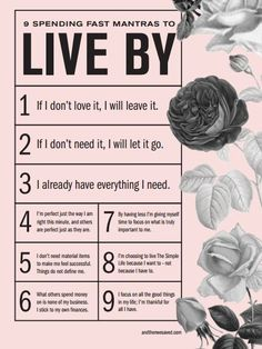 9 Spending Mantras to Live By / And Then We http://Saved.com