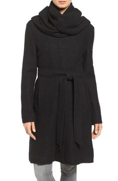 Cole Haan Signature Belted Scarf Front Coat available at #Nordstrom