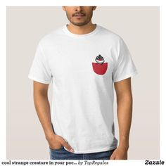 1be7481af cool strange creature in your pocket T-Shirt Cool T Shirts, Kids Shirts,