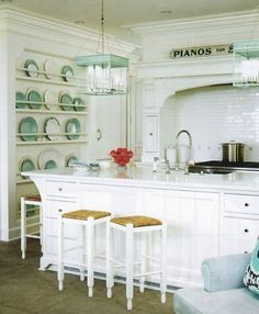 Plate rack and white tiles.