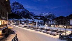 VILLAGE LIGHTING IN LECH, Lech am Arlberg, Austria.