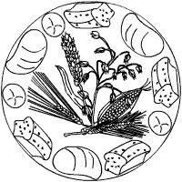 Ernte Dank Mandala Brot
