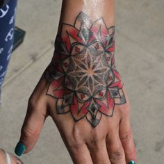 Mandala hand tattoo by Susie Humphrey