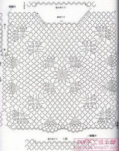 crochelinhasagulhas: Blusa preta de crochê