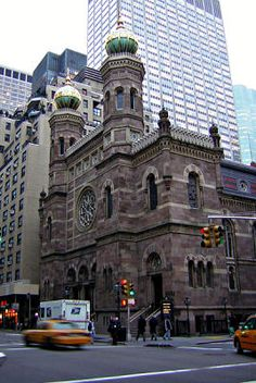 CENTRAL SYNAGOGUE in NYC-  This famous synagogue was build in the early 1870, based on the Dohány Street Synagogue in Budapest. This fascinating building is open for free public tours.
