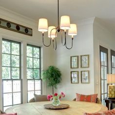 SaintMossi TRIPLA 4 Lights 22 inch Old Brown Chandelier Modern Ceiling Light in Fabric Shade
