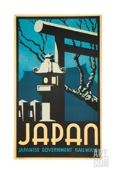 Japan Japanese Government Railways Poster Giclee Print by P. Irwin Brown at Art.com