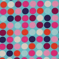 Stretch Jersey Hamburger Liebe Happy Dots türkis von PinkPeppa auf DaWanda.com