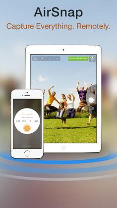 AirSnap* is a magical way of capturing photos and videos remotely using 2 iOS devices like iPhones, iPads or iPod Touches running Camera Plu...