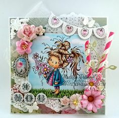 Scrapkonst: Quick Creations DT with Dolly Wee stamps Whimsy stamps card