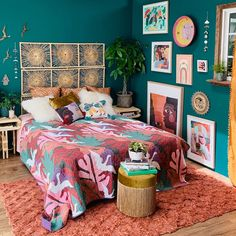 Gipsy party and boho chic: decorating ideas with the theme - Home Fashion Trend Romantic Bedroom Decor, Bohemian Bedroom Decor, Modern Bedroom, Bedroom Ideas, Bedroom Designs, Contemporary Bedroom, Bedroom Colors, Mexican Bedroom Decor, Colourful Bedroom