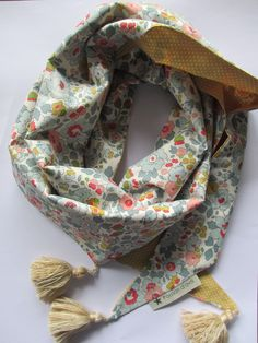 Foulard BETSY et pois moutarde PA