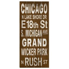 Create an antiqued vignette in your foyer, kitchen, or den with this planked birch wood wall decor, showcasing famous Chicago locales in a warmly weathered b...