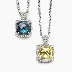 Which one would you choose from these two gorgeous David Yurman @davidyurman Necklaces? Are you a blue topaz or lemon citrine gemstones kind of gal? Both are surrounded by sparkling diamonds. #purplebyanki #diamonds #luxury #loveit #jewelry #jewelrygram #jewelrydesigner #love #jewelrydesign #finejewelry #luxurylifestyle #instagood #follow #instadaily #lovely #me #beautiful #loveofmylife #dubai #dubaifashion #dubailife #mydubai #davidyurman #bluetopaz #lemoncitrine #necklace #pendant