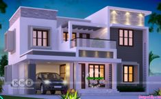 1953 square feet 4 bedroom flat roof Kerala home design by Dream Form from Kerala.