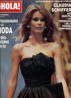 (at Madrid, Spain) Fashion Magazine Cover, Fashion Cover, 90s Fashion, Fashion Models, Claudia Schiffer, At Madrid, Dior, Chanel Cruise, 90s Models