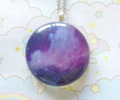 Hey, I found this really awesome Etsy listing at https://www.etsy.com/listing/163441802/galaxy-necklace-purple