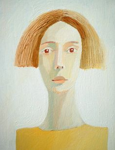 woman  original painting on canvas by behappynow on Etsy, $90.00