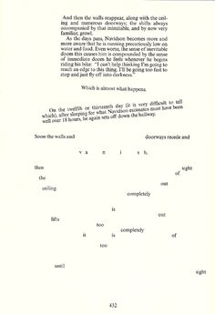 House of Leaves - Yes, this is how it's written.