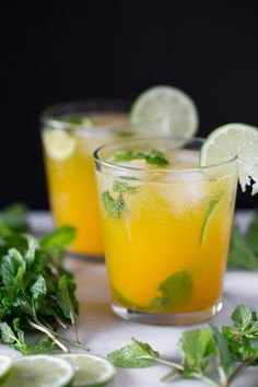This sweet mango mojito is the perfect combination of rum, mint and sweet mango nectar. This drink is perfect for sipping by the pool and dreaming of warm weather.