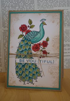 Perfect Peacock Stampin' Up! Perfect Peacock, Stampin Up Catalog, Thing 1, Bird Cards, Card Making Techniques, Heartfelt Creations, Copics, Paper Cards, Vintage Cards