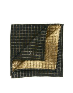 ASOS Pocket Square With Glitter Grid Check