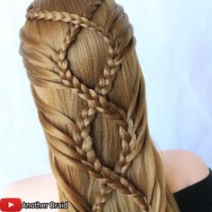 Braided Hairstyle By: @Another Braid on Youtube Bun Hairstyles For Long Hair, Braids For Long Hair, Braided Hairstyles, Hair Style Vedio, Hair Tutorials For Medium Hair, Girl Hair Dos, Hair Up Styles, Diy Hair Care, Toddler Hair