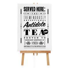 Tea Antidote - Notice Fine Art Print - Retro Poster - Polite Notice - Vintage Advert- Monochrome - Father's Day UK❤️