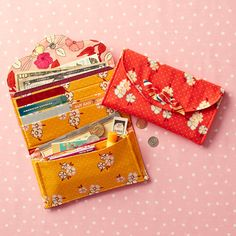 Straight Stitch Society Tiny Button Wallet - Sewing Pattern