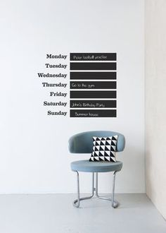 """""""This Week"""" Wandticker / Schiefertafel, Ferm Living auf Made in Design"""