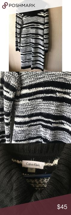 Black&White 🔲 Like new! Perfect for the holidays. Whole dress has those little hairs as shown in pics Calvin Klein Dresses