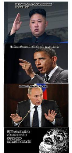 North Korea vs. USA vs. Russia - www.funny-pictures-blog.com