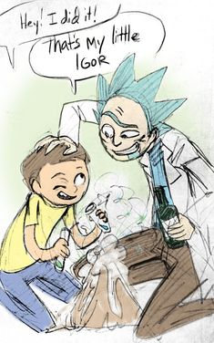 Rick and Morty (had to pin cause it's adorable... And made a board for it since i didn't have anywhere to go with it XD)